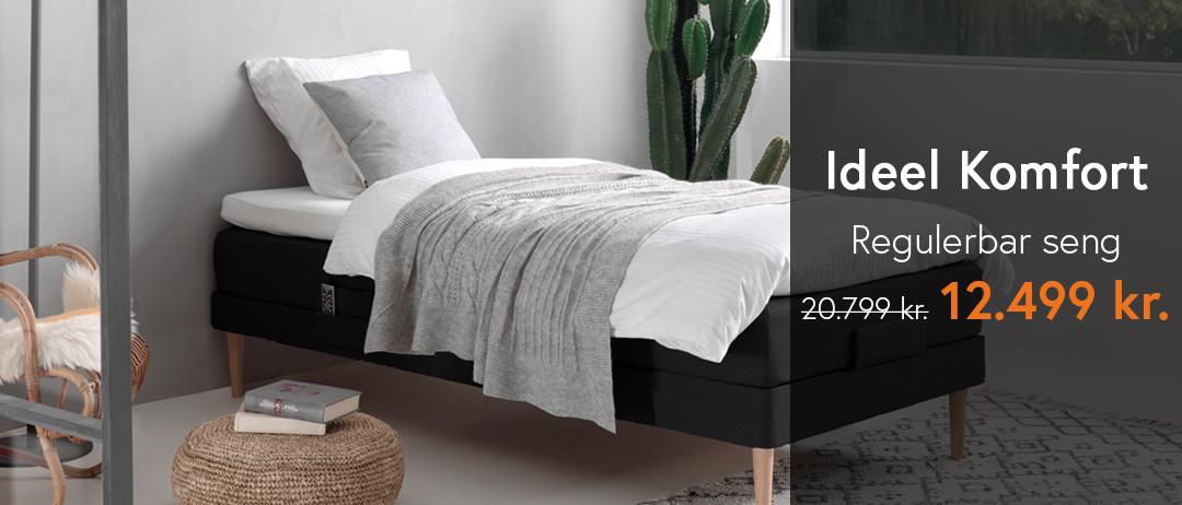 Regulerbar seng 90x200